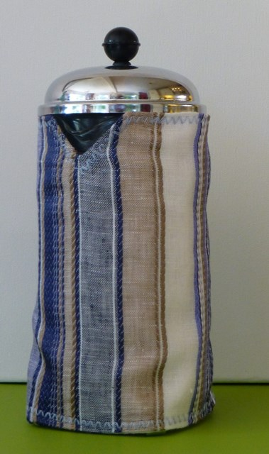 Blue Striped Cafetiere Cover