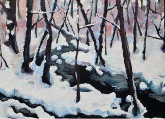 winter wonderland modern art