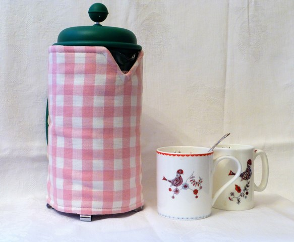 timeless gingham 8 cup cafetiere cover