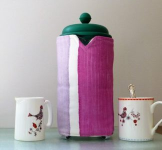 dusty lilac cafetiere cosy