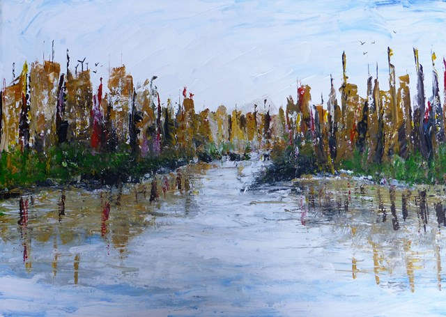 river impressionist painting