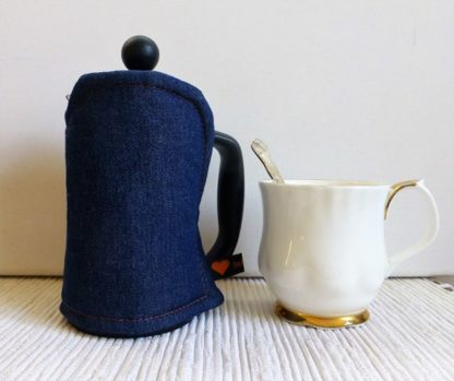 denim 3 cup french press cosy