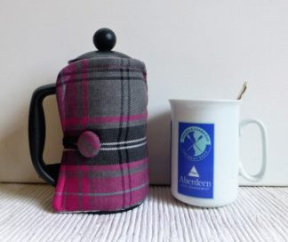 stunning pink and grey tartan