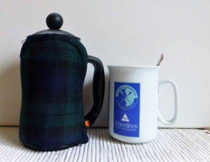 tartan 3 cup french press cosy