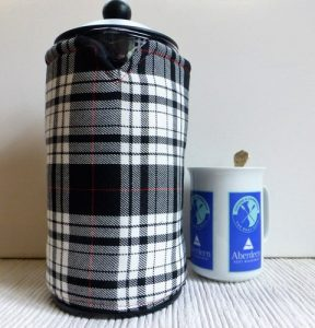 tartan 8 cup french press cover