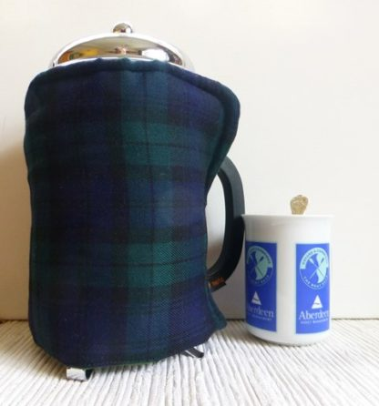 tartan 12 cup cafetiere cover