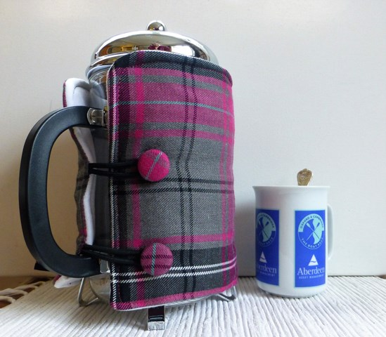 Pink and Grey Tartan 12 cup
