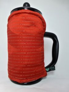Red 8 cup Cafetiere Cover