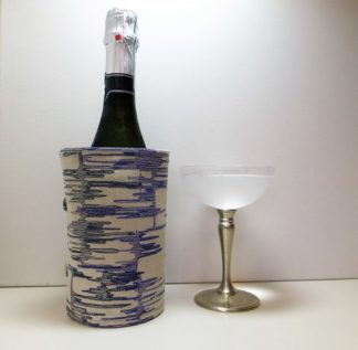 Linen Abstract Bottle Butler