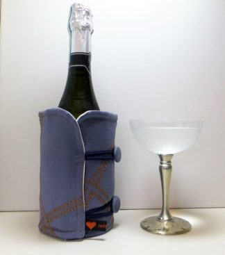 Petrol Blue Bottle Butler