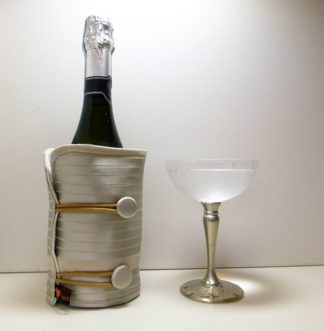 Pale Gold Bottle Butler