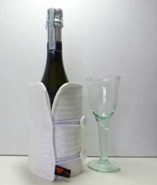 white satin bottle butler