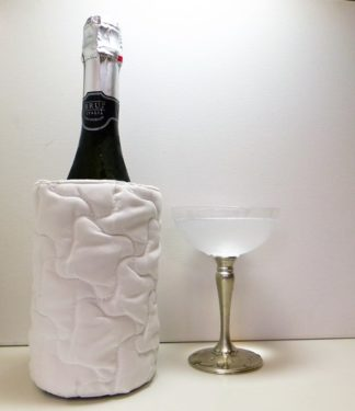 White Quilted Bottle Butler