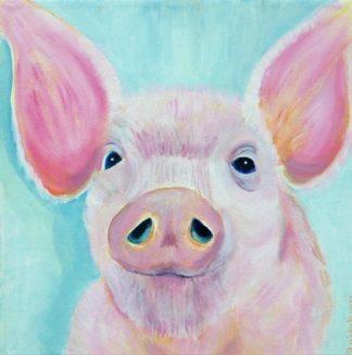 Perky Pig painting