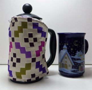 Luxury Silk 3 cup Cafetiere Cover