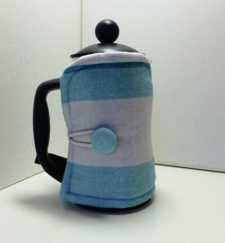 Pale Blue and grey stripped 3 cup