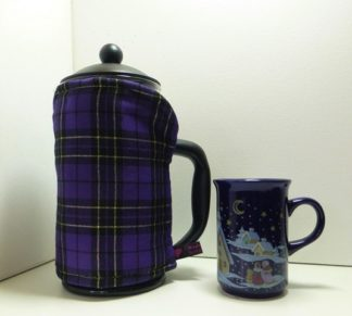 Rich Purple and Black Tartan