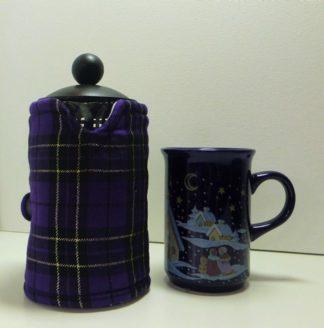 Purple Black and Gold Tartan