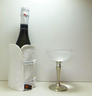 White Satin Bottle Butler