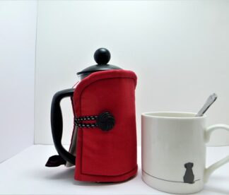 Plain Red 3 cup French Press cover