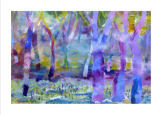Blue Bell Wood Greeting Card