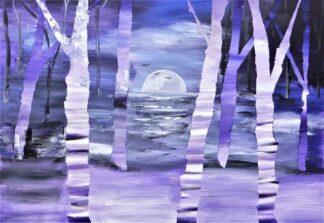 Silvery Moon Contemporary Art