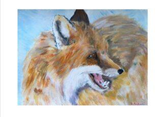 Alpine Fox Greeting Card
